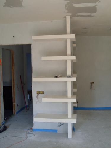 Decorpaint pareti divisorie attrezzate - Mobili di cartongesso ...